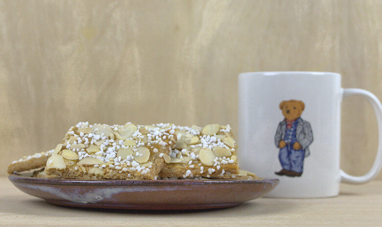 Picture of Almond Sugar Cookies with coffee mug