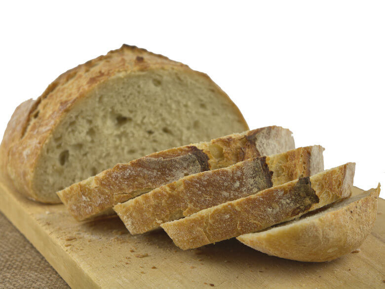 Picture of sliced No-knead bread