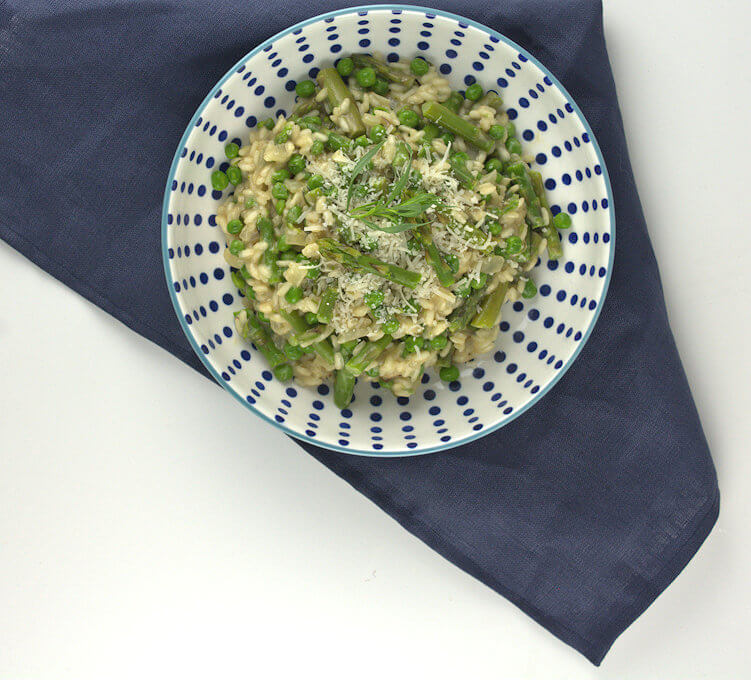 Picture of Asparagus and Peas Risotto, top down