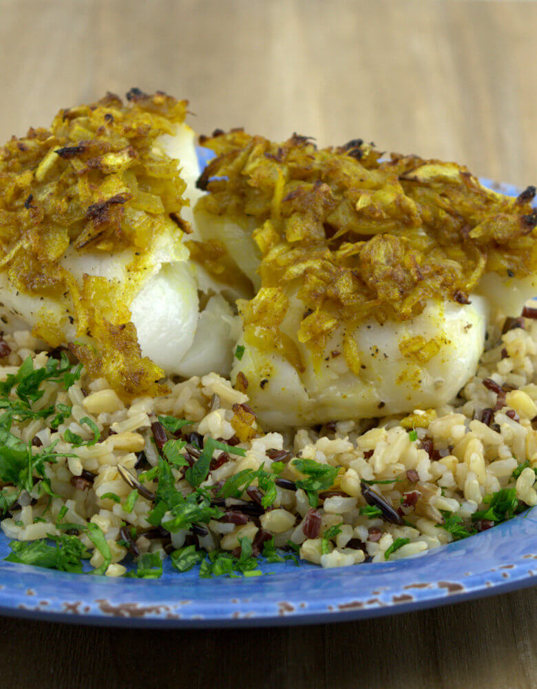 Baked Cod with Onion, Curry and Ginger8
