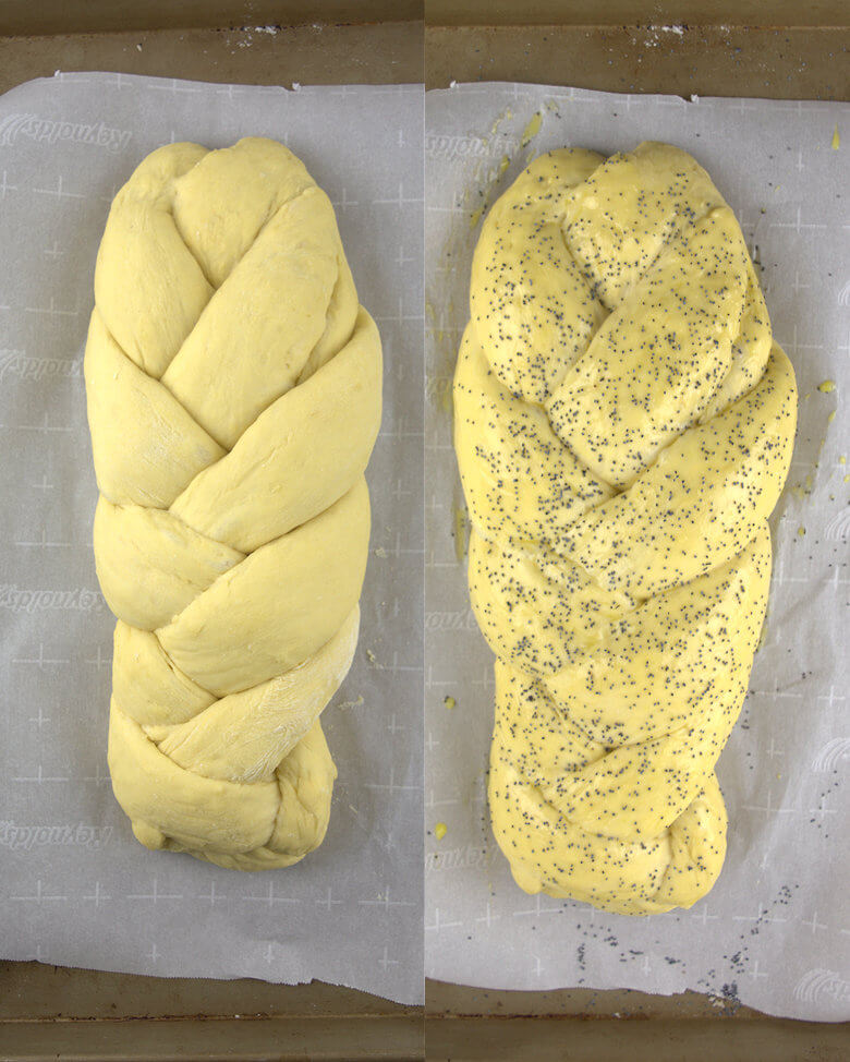 Braided Bread Dough with Poppy Seeds