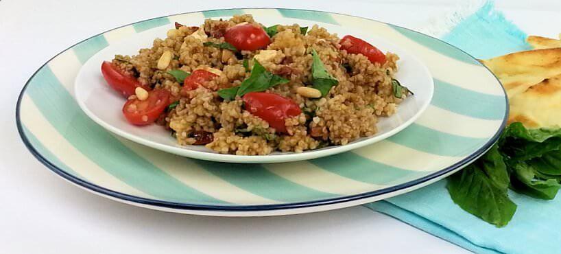 Bulgur Wheat Caprese Salad