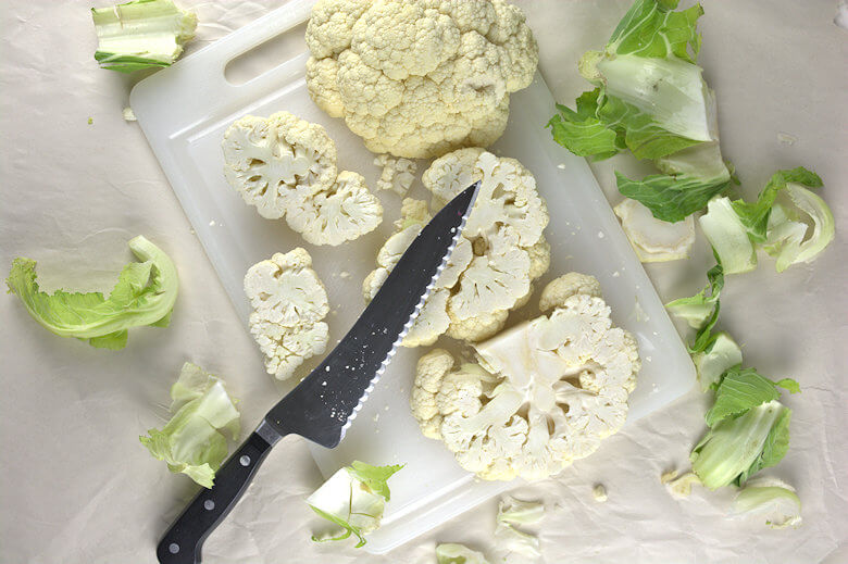 Picture of raw cut up cauliflower