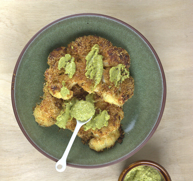 Picture Cheese-Crusted Cauliflower Steaks