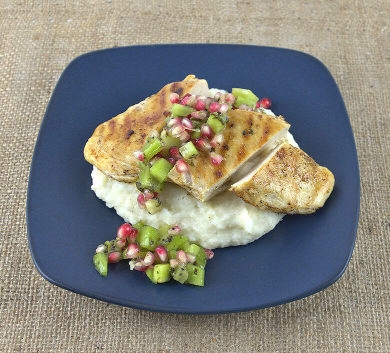 Chicken With Kiwi Pomegranate Salsa1