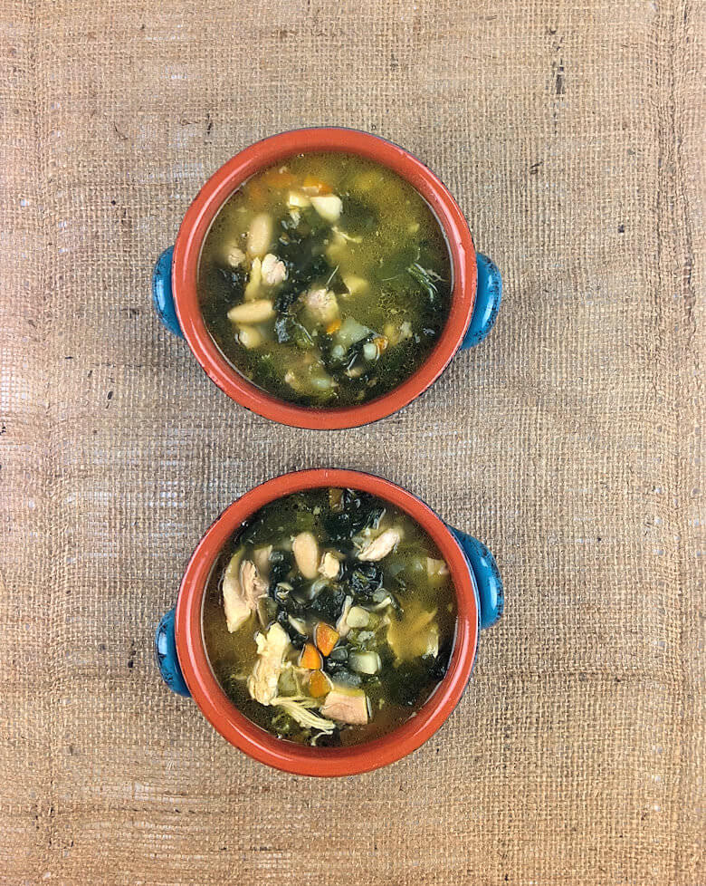 Chicken Soup Potato White Beans Spinach Top