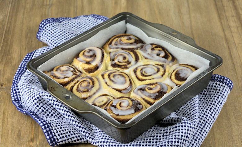 Side picture of Cinnamon Rolls with Light Glaze
