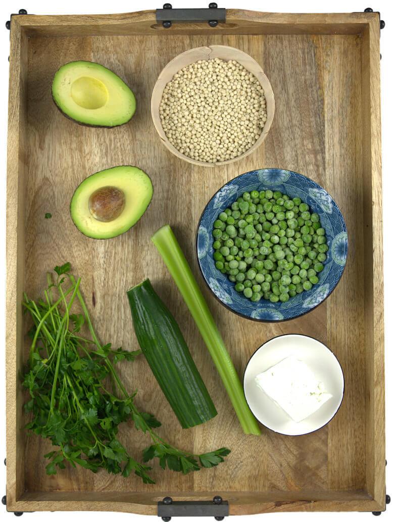 Ingredients couscous salad