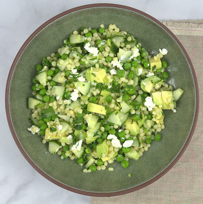 Couscous Salad with Feta & Greens