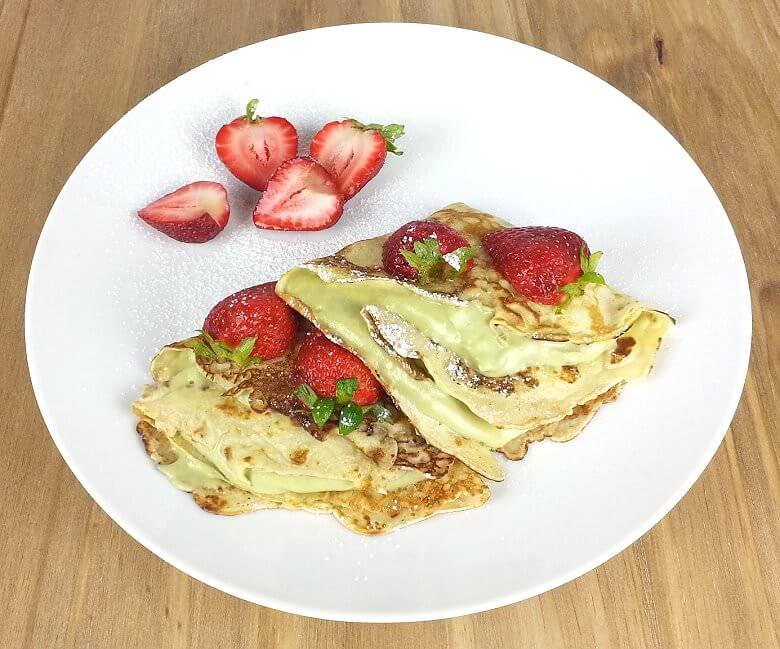Picture of Crepes Filled with Creamy Avocado, top down