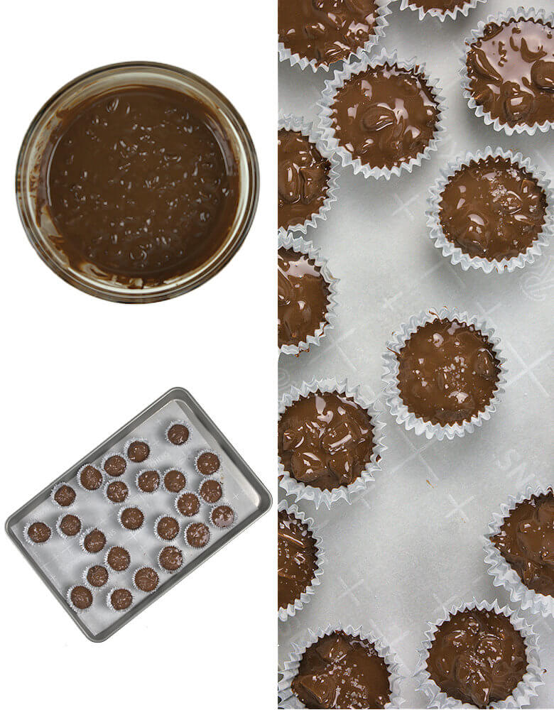 Preparation of chocolate cups