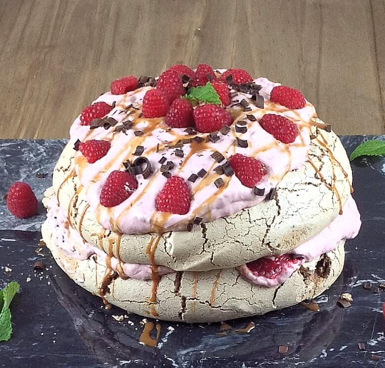 Picture of Double Chocolate Pavlova with Raspberry Cream
