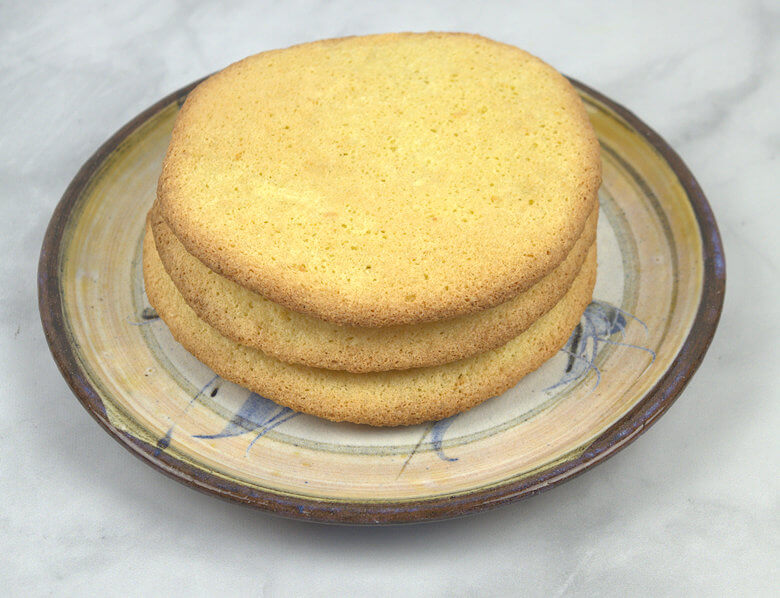 Pile of Egg cakes on plate
