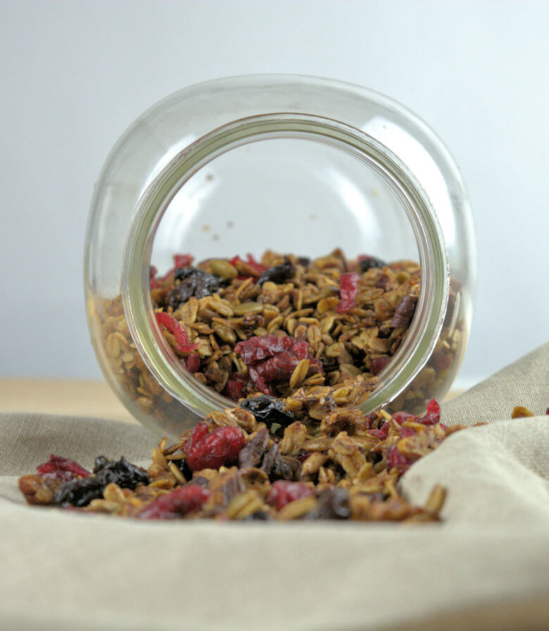 Picture of Easy Healthy Granola inside a bottle