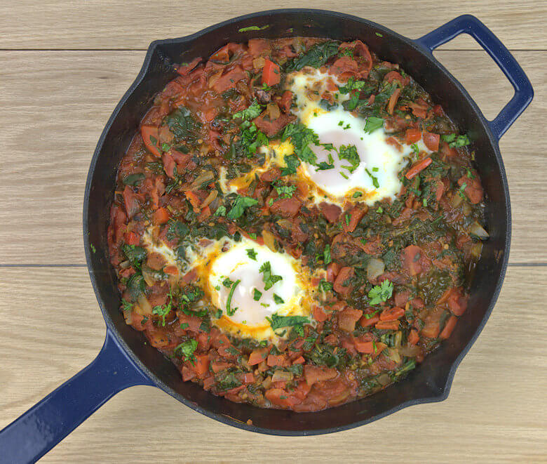 Easy Shakshuka with Spinach