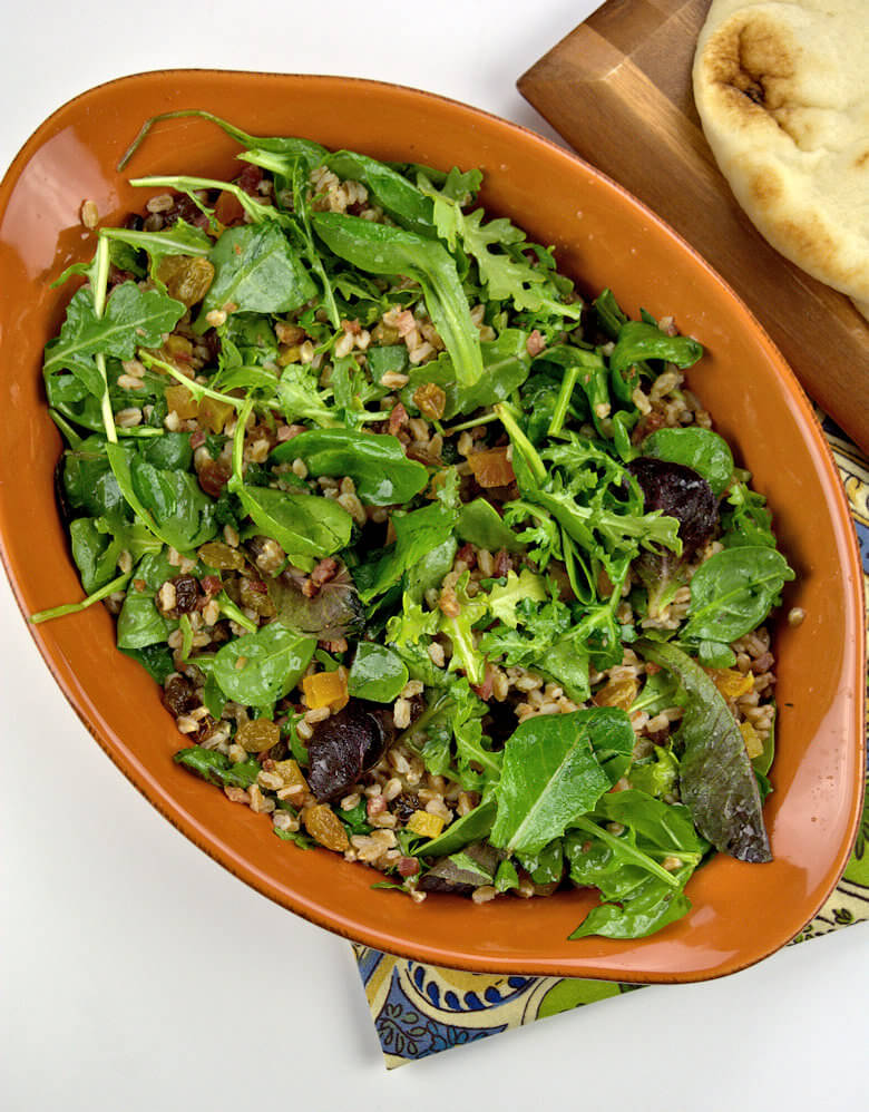 Fall Salad with Fruit, Grains and Greens2