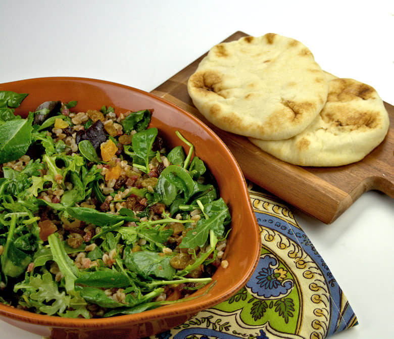 Fall Salad with Fruit Grains and Greens3