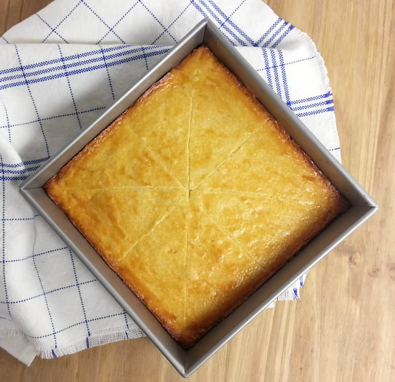 Picture of Family Size Butter Cookie or Boterkoek in baking dish