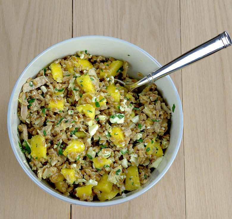 Farro Salad with Mango, Chicken and Feta3
