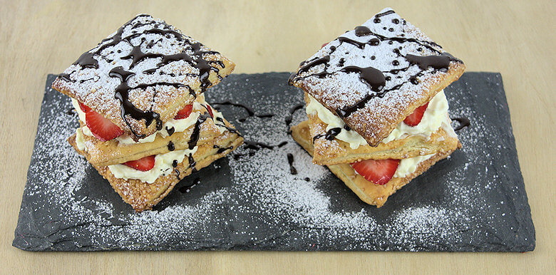Feuilletee with Strawberries & Mascarpone1