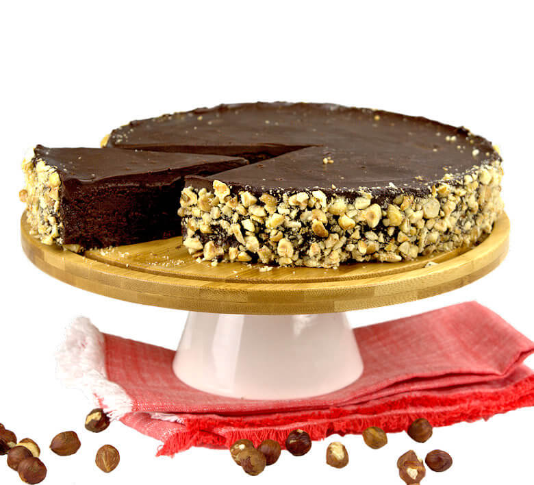Picture of Flourless Double Chocolate Cake with Hazelnuts