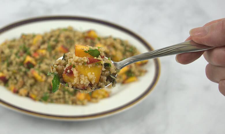 Spoonful of quinoa salad