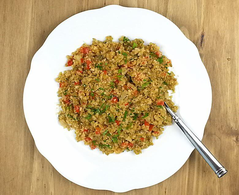 Freekeh Cauliflower Rice Top