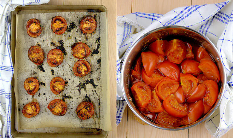 Picture of roasted and cooked tomatoes