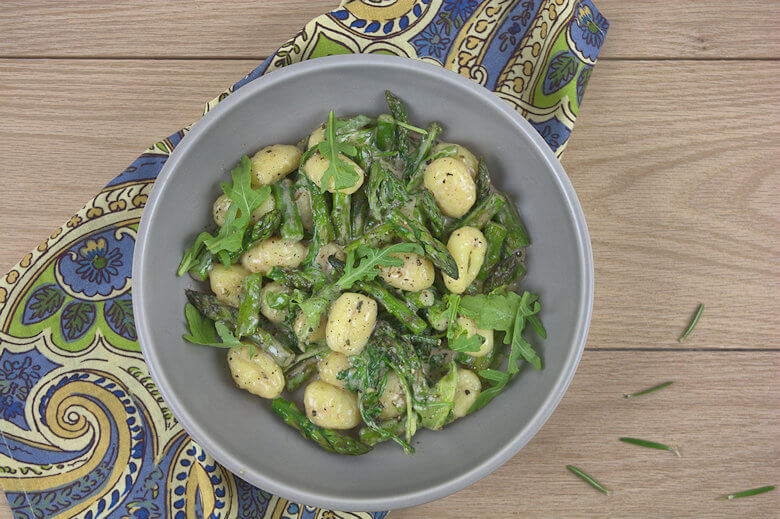 Gnocchi with Asparagus and Arugula