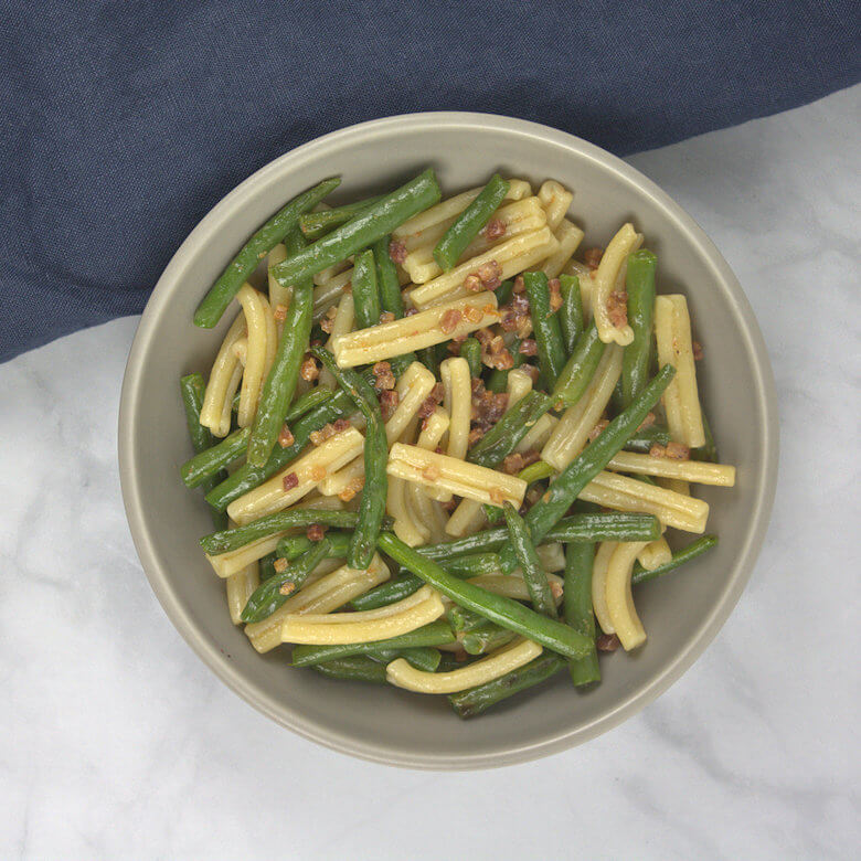 Green Beans and Pancetta Pasta