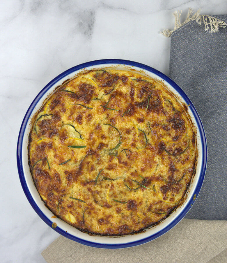 Picture of Green and Yellow Zucchini Tart
