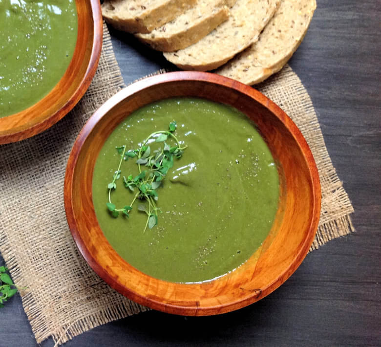 Greens Cauliflower Soup Single