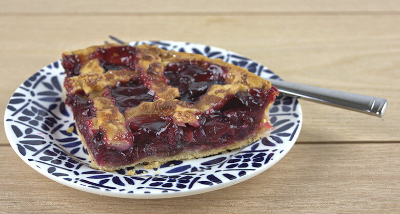 Picture of wedge of Homemade Cherry Pie