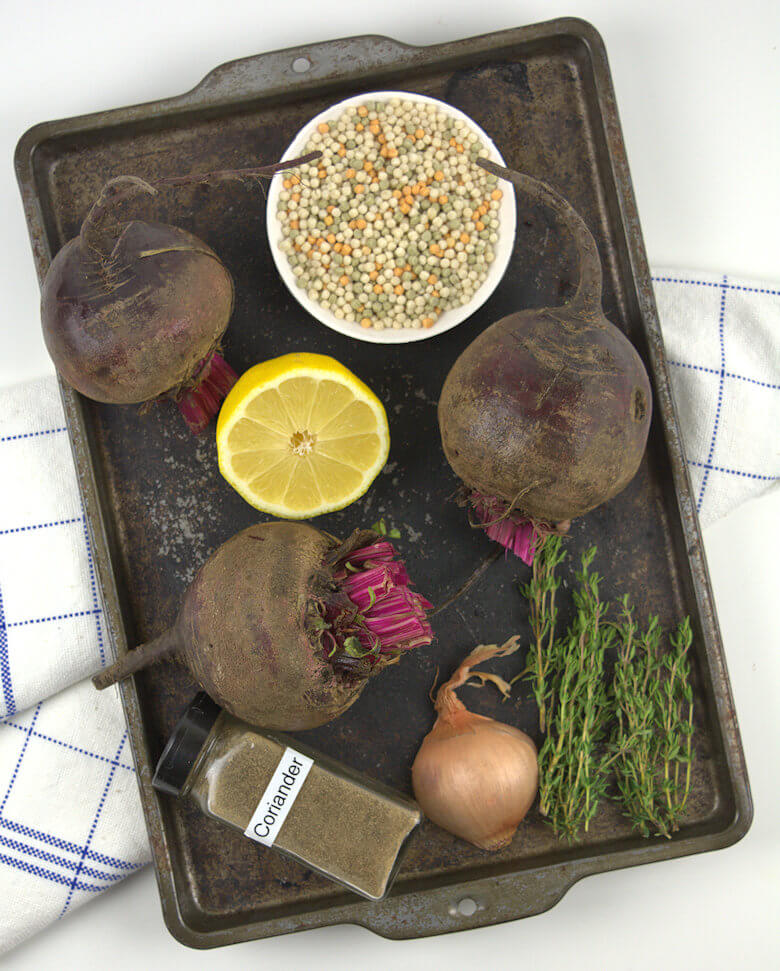 Ingredients for Pearl Couscous with Beets recipe