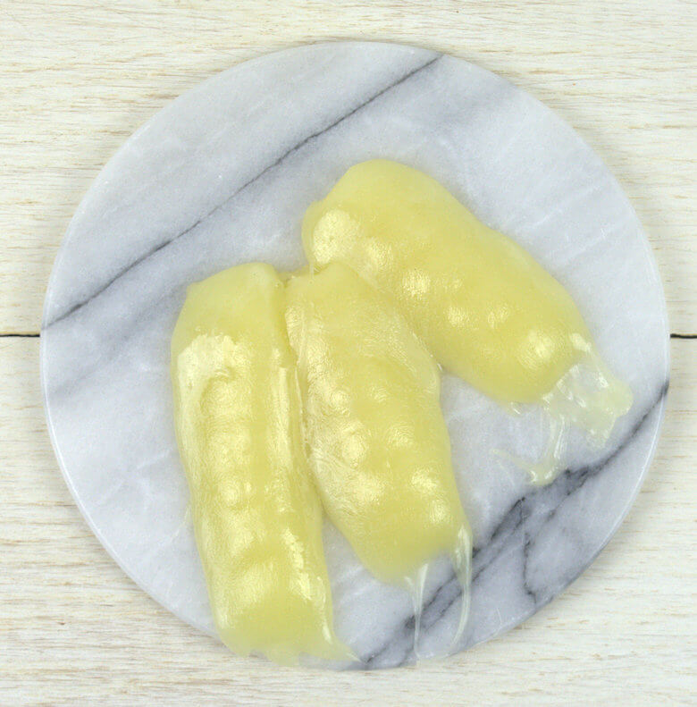 Picture of melted Kasseri cheese