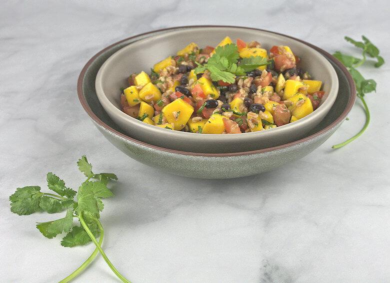 45 degrees picture of Mango Tomato Black Bean Salad