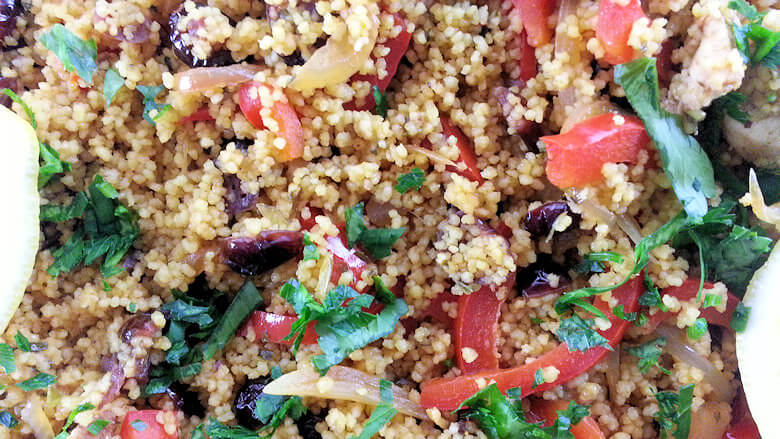 Close up picture of Mediterranean Chicken Couscous