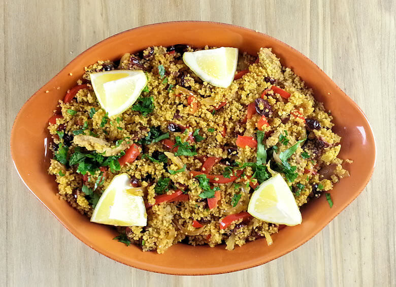 Picture of Mediterranean Chicken Couscous, top down