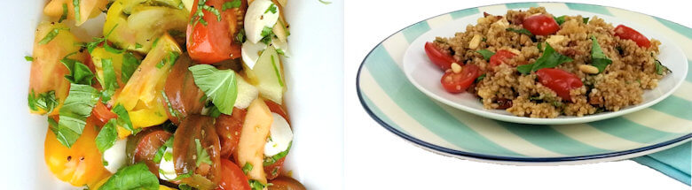 Picture of 2 alternative Caprese salads