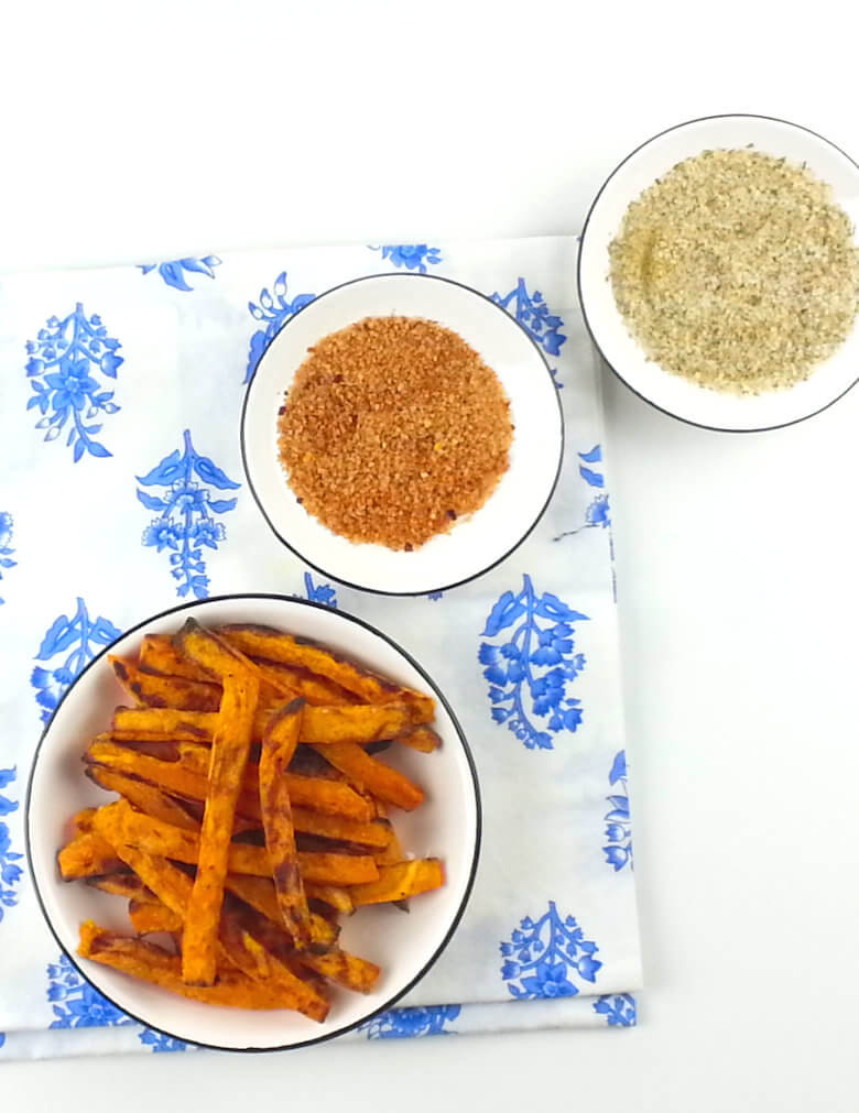 Oven Fried Sweet Potatoes Top