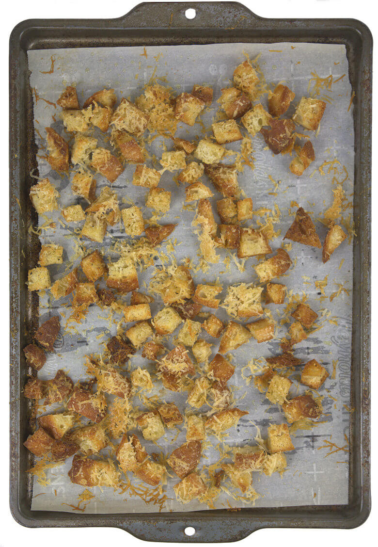 Picture of Parmesan and garlic croutons