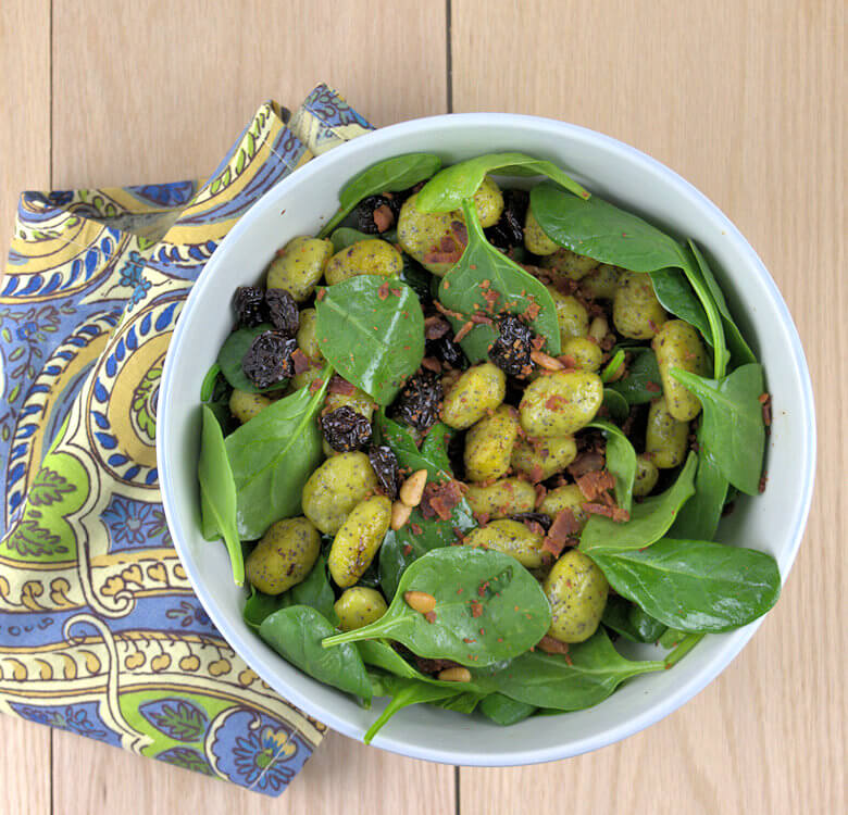 Poppy Seed Potato Gnocchi in Spinach Salad1