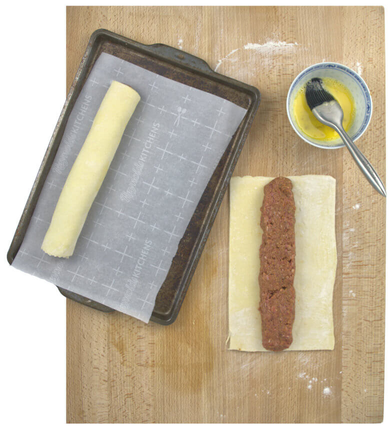 Picture of how to make sausage rolls