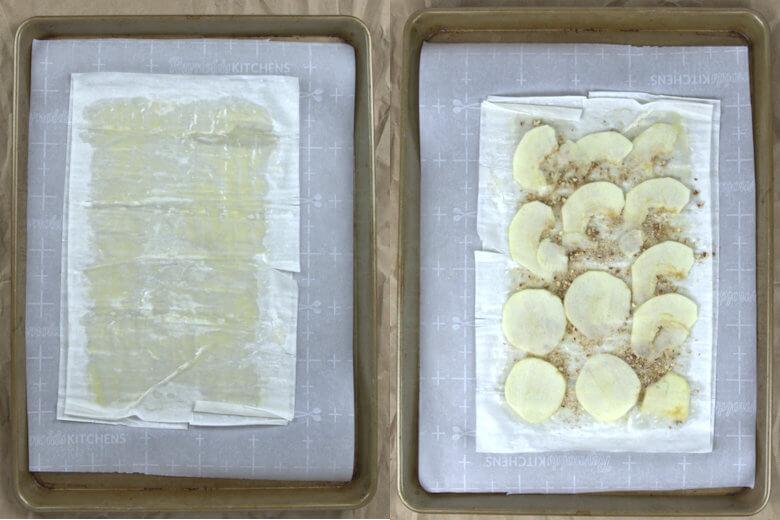 Preparation of phyllo crisp