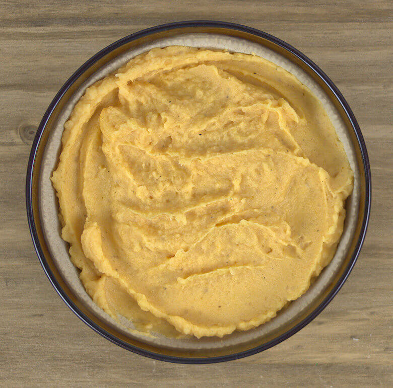 Picture of undecorated Pumpkin Mashed potatoes