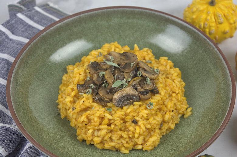 Close-up of risotto dish