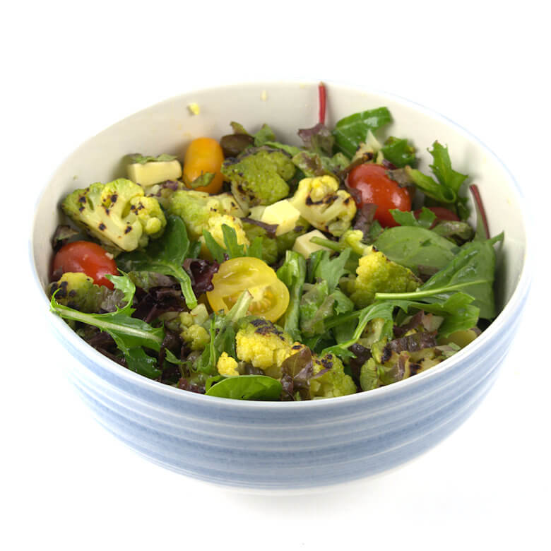 Picture of Roasted Green Cauliflower Salad in a bowl