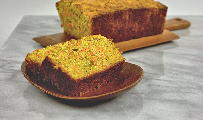 Picture of slices of Semolina Carrot Cake