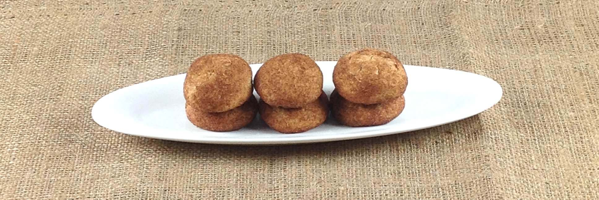 Picture of oval dish with snickerdoodles