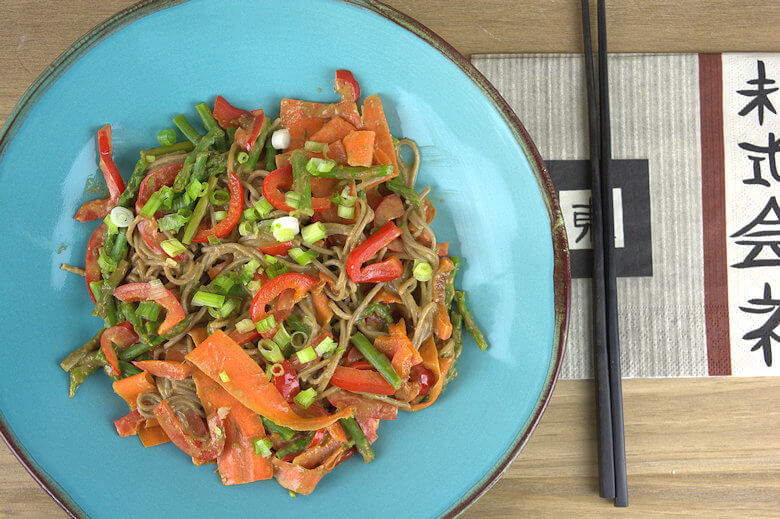 Soba Noodles with Vegetables in Peanut Sauce2